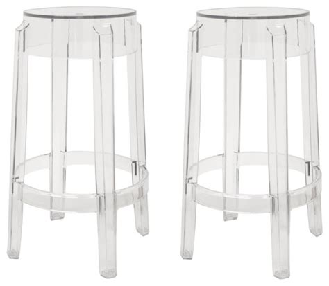 Clear Plastic Kitchen Stools by Baxton Studio Bettino Clear Acrylic Counter Stool Set Of 2