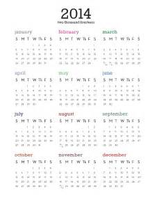 2014 one page calendar template printable 2014 calendar on one page new calendar