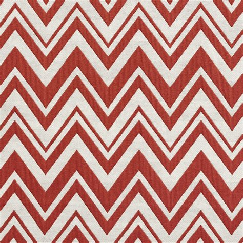 red white pattern zigzag red and white zig zag chevron upholstery fabric by the yard