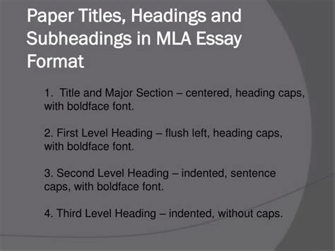 mla essay format powerpoint  id