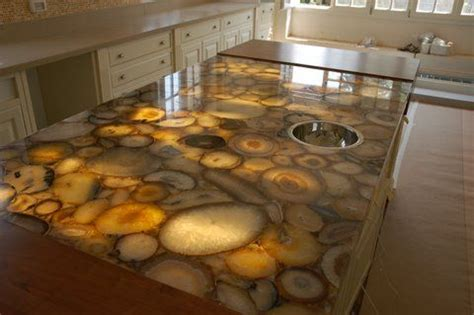 Backlit Onyx Countertop by Backlit Onyx Slab The Glowing Honey Color Reminds