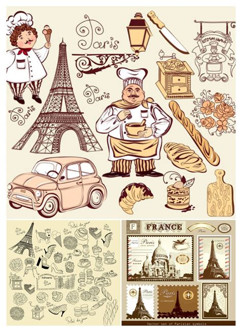 Design Franc Art | vintage french illustrations vector free stock vector