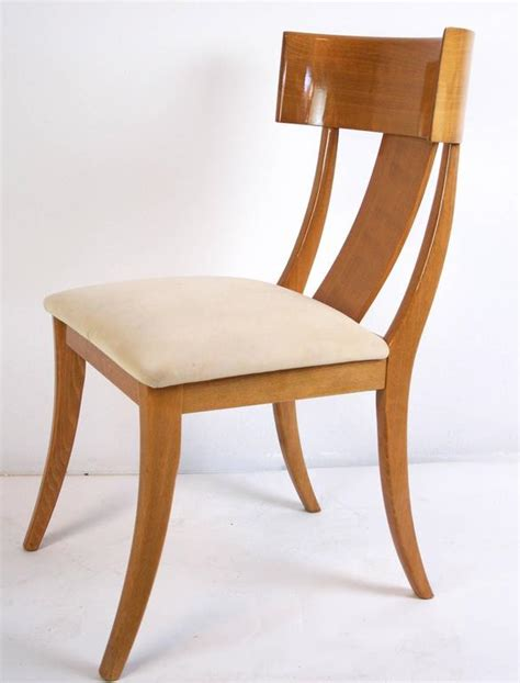 modern klismos chair pair of modern klismos chairs by pietro constantini for