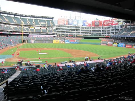 rangers sections globe life park section 131 rateyourseats com