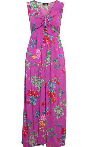 Maxi Magenta magenta floral print sleeveless maxi dress