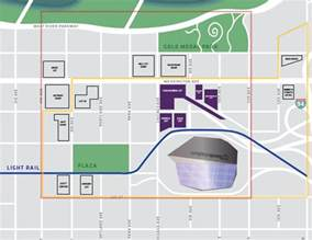 dome tailgating map us bank stadium parking guide