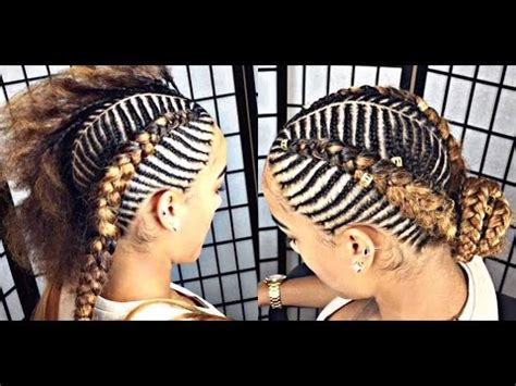 #152. tiger/fishbone braids youtube