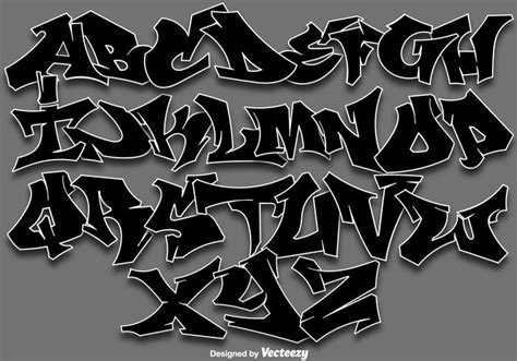 lettere da graffiti vector letras de alfabeto de graffiti descargue gr 225 ficos