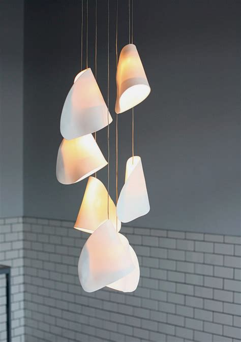 Kitchen Light Diffuser - 21 beautiful pendant lamps with thin porcelain shades 21 series home building furniture