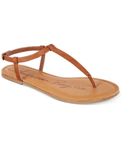 Sandal Santai Flat Wanita Berkualitas american rag krista t flat sandals created for macy s sandals shoes macy s