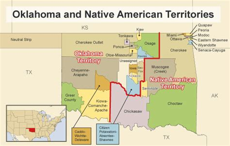 map of american tribes in oklahoma american tribes in oklahoma