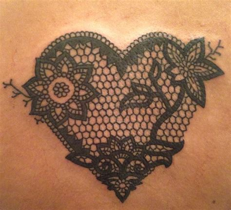 lace heart tattoo designs lace tattoos pictures to pin on tattooskid