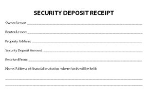 free printable deposit receipt template earnest money deposit maryland and with it can a limited