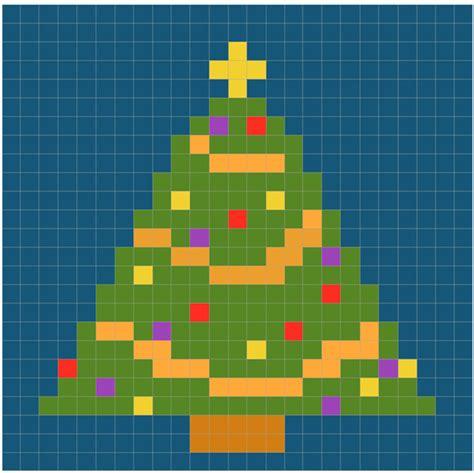 emmaie christmas tree pixel pattern