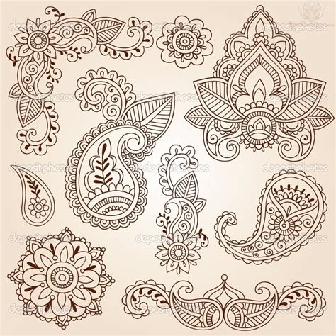 free henna paisley pattern coloring pages