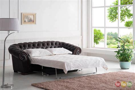 tufted leather sofa bed tufted sleeper sofa italian leather sleeper sofa