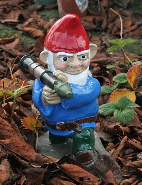 combat garden gnomes combat garden gnome with rocket launcher gentlemint