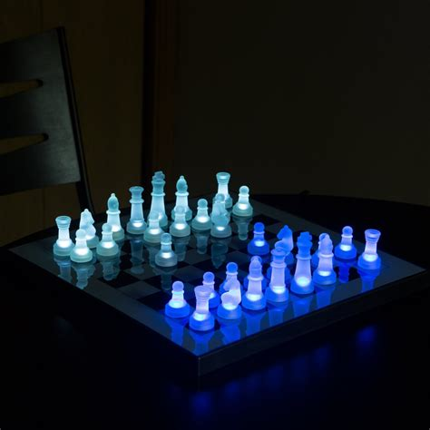 fancy chess set fancy led chess set by lumisource