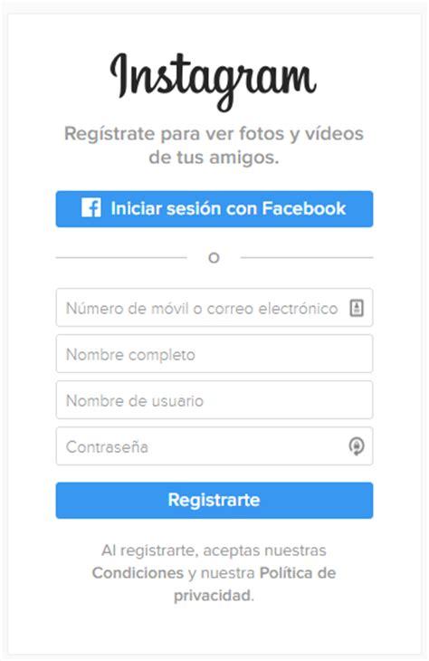 fasebook iniciar secion o regstrate abrir instagram iniciar sesi 243 n crear cuenta con