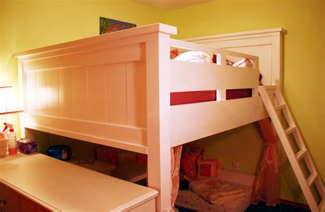tall loft bed ana white farmhouse loft bed for double mattress not too low not too tall diy