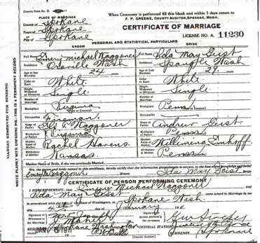 Spokane washington marriage records