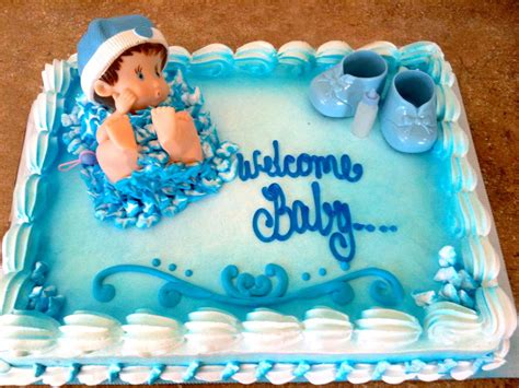 Baby Shower Sheet Cakes For Boy by Hector S Custom Cakes Boy Baby Shower Cake Boy Baby