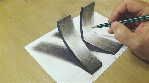 K Drawing 3d by How To Draw 3d Letter K Trick On Paper With