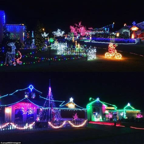 christmas lights australia australian homes light up for spectacular displays daily mail