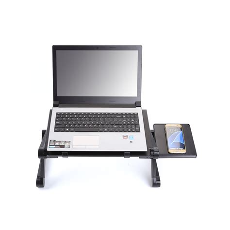 Adjustable Laptop Desk Stand Folding Portable Adjustable Laptop Desk Computer Table Stand Black Notebook Desk Ebay