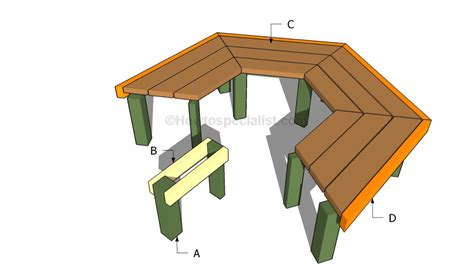 tree bench plans free how to build a tree bench howtospecialist how to build