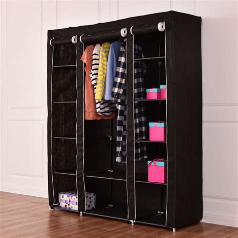 clothes and shoe storage 70 quot portable closet storage organizer clothes wardrobe