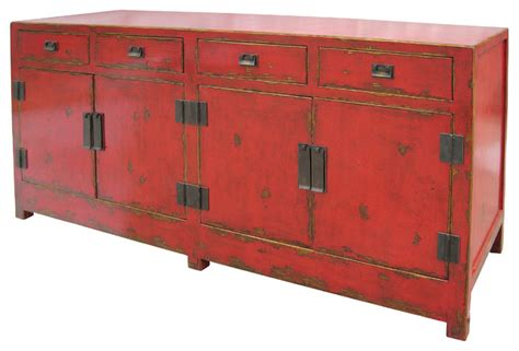 Asian Sideboards shanxi sideboard 4 door 4 drawer asian buffets and sideboards by seldens furniture