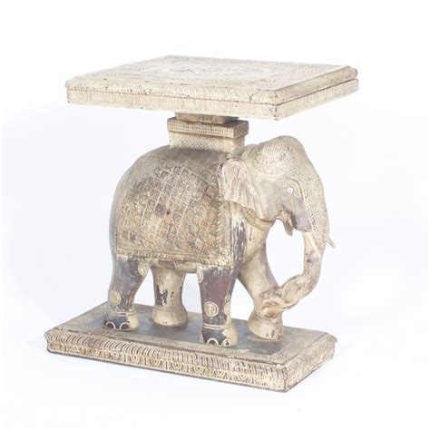 Elephant Table L by Rustic Anglo Indian Elephant Table At 1stdibs