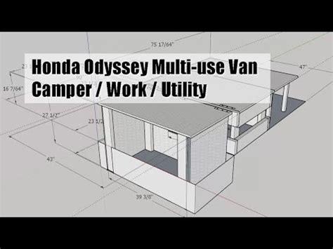 honda odyssey van mod diy camper / work / utility (plan