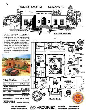 planos de casas en mexico haciendas dream home plans and home plans on pinterest