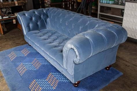 bespoke chesterfield sofa bespoke blue velvet chesterfield sofa by pitfield london
