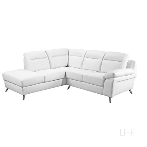 Nuvola Italian Inspired White Leather Corner Sofa L Shaped Leather L Shaped Sofa