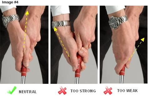 use of right hand in golf swing proper golf grip free online golf tips