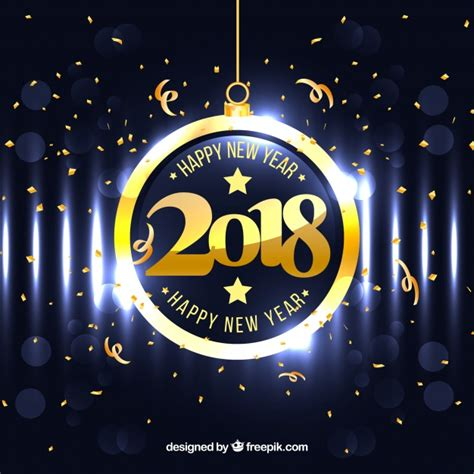 new year 2018 free vector bright new year 2018 background vector free