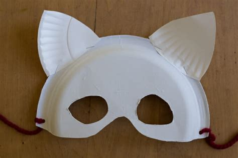 how to make paper plate masks and cardboard wings for