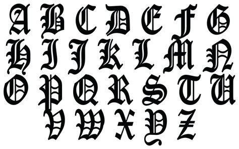 tattoo fonts pdf stunning alphabet lettering lettering