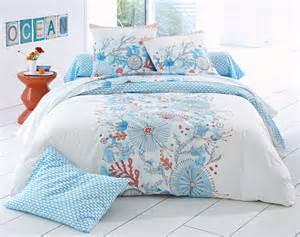 linge de lit flore sous marine becquet