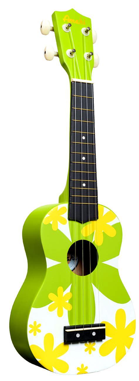 flower design ukulele dorsey music amahi soprano ukulele green flower design