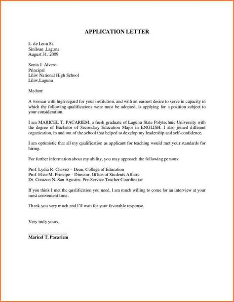 10  teacher application letter   Budget Template Letter