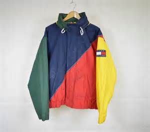 Vintage Jacket Tyga Takes It Back To The 90s In Vintage Hilfiger
