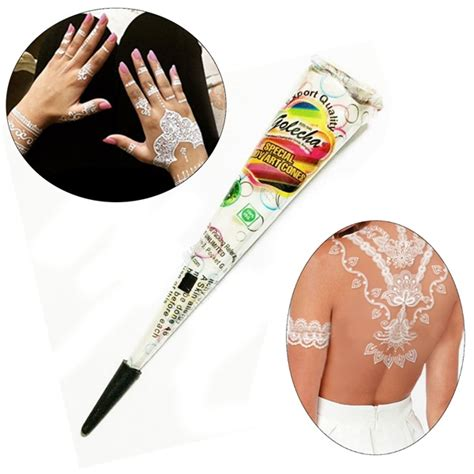 white henna tattoo art white henna paste cone temporary