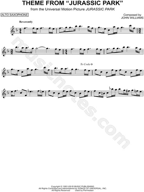 theme song jurassic world print and download theme from jurassic park sheet music
