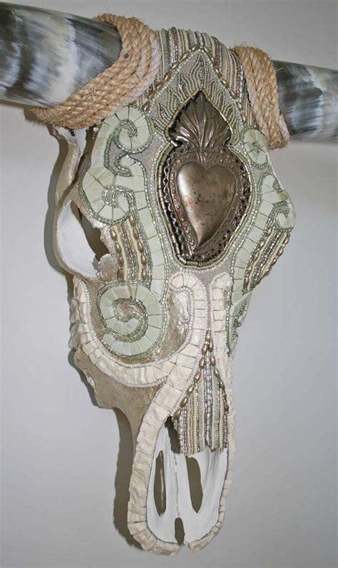 beaded cow skull cow skull wall longhorn decorative cow skull mosaic