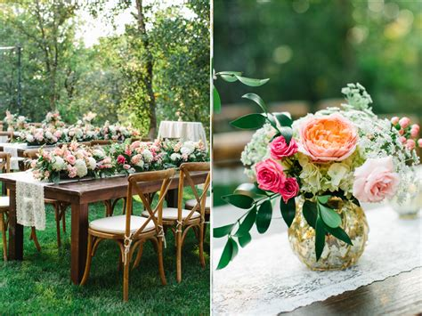 farm table forest gorgeous summer wedding flowers featured in utah valley
