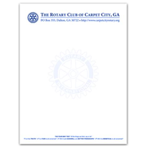 rotary letterhead custom rotary club supplies russell